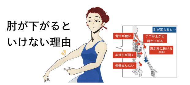 バレエで肘を下げない理由と肘を張るシンプルな方法